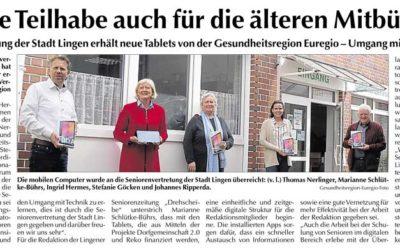 Emsland-Kurier | Digitale Teilhabe auch für die älteren Mitbürger